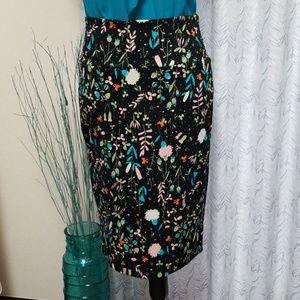 LuLaRoe Floral Print Cassie Pencil Skirt